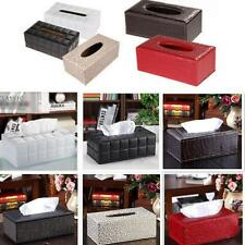 PU Leather Tissue Box Cover Pumping Paper Napkin Holder Box 6 Colors Choice