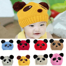 Cute Baby Love 1 pcs Hot Wool New Panda Girls Boys knit Cap Beanie Hat Crochet