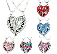 Gift Pendant Chain Clavicle Crystal Jewelry Alloy Necklace Heart-Shaped Fashion
