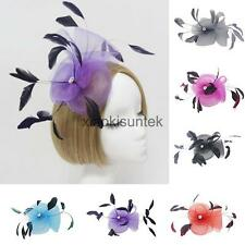 Feather Wedding Women Fancy Prom Party Fascinator on Clip Hair Accessories