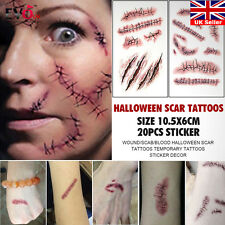 Halloween Wound/Scab/Blood Scar Tattoos Temporary Tattoos Realistic Sticker