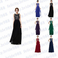 2017 New Stock Hot Sale  Evening Party Prom Gown Formal Bridesmaid  Dress6-18+