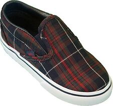 Vans Classic Slip On ~ (Plaid) Dress Blues ~Toddler/Infant Shoes