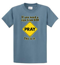 Sign From God Mens Printed Tees Reg to Big and Tall Sizes Port and Company