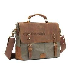 Vintage Canvas Shoulder Messenger Bag Casual Satchel