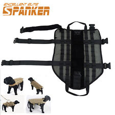 S-XL Tactical Army Mesh Dog Harness Vest Pet Load Bearing Molle Vest  Dog Cloth