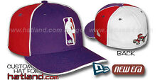 Raptors 'LOGOMAN-2' Purple-Red-White Fitted Hats by New Era