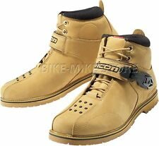 ICON BOAT SUPERDUTY 4 Motorcycle boots Leather beige Size 40 - 48,5