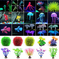 Artificial Silicone Fish Tank Aquarium Decor Animal Plants Ornament Landscaping