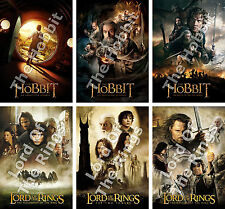 3 The Hobbit, 3 The Lord Of The Rings Or ALL 6 Movie Posters - Christmas Present