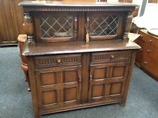 LOVELY VINTAGE COURT CUPBOARD / BUFFET UNIT / SIDEBOARD SHABBY CHIC CHALK PAINT