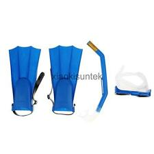 Unisex Snorkel Mask & Fin/Flippers Scuba Swimming Diving Snorkelling Set