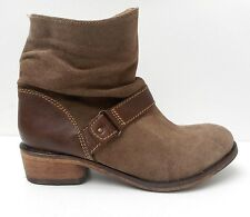 Red Tape Ladies Womens Leather Suede Beige Brown Buckle Ankle Boots