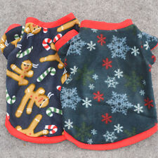 Pet Dog Puppy Santa Shirt Christmas Clothes Costumes Coat Vest Apparel Sweater