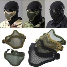Airsoft Nylon Wire Mesh Half Face Mask Tactical Paintball Hunting Protection