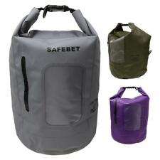 15L Waterproof Dry Bag Kayaking Rafting Hiking Sack Pouch with Clear Window