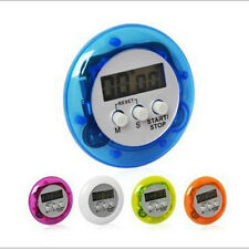 Round Shape Digital Magnetic LCD Stopwatch Timer Kitchen Racing Alarm Clock Cn