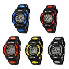 NEW GIFT Kids Child Boy girl Silicone Led Digital Sport Quartz Wrist Watch