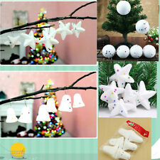 6pc / set Christmas tree decorations foam snowball five-pointed star small bell
