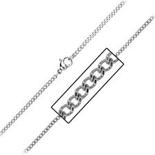 INOX Jewelry 316L Stainless Steel 2.3mm Diamond Cut Chain Necklace