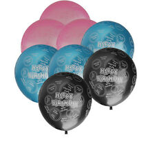 Pack of 20pcs Happy Birthday Circle Balloons Party Anniversary Decoration 10""