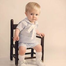 NWT Petit Ami Boys Batiste Blue Sailor Collar Bobby Suit 3 6 9 Months