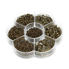 1 Box Mixed Size Iron Plated Jump Rings Unsoldered Jewelry Open Rings DIY