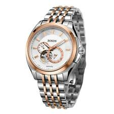 ROSDN Top Sapphire Men Automatic Mechanical Skeleton Business Watch + Box M4G3
