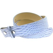 Snake Skin BLUE Leather SNAP Belt