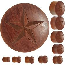 Organic Sawo Wood Nautical Star Saddle Plug