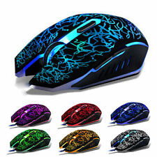 Adjustable 2400DPI Optical USB Wired Gaming Mice Mouse For Laptop PC Desktop