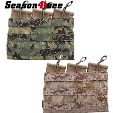 EMERSON Military Molle Triple 5.56 Magazine Pouch Bag Open Top For Tactical Vest