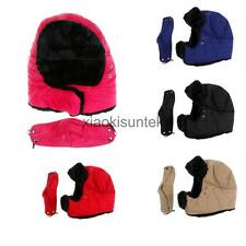 Soft Artificial Fur Trapper Ushanka Russian Hat Cap with Warm Mask Windproof