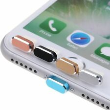 Metal Skin PC Anti Dust Charger Dock Plug Stopper Cap Cover for iPhone 7 / 7Plus