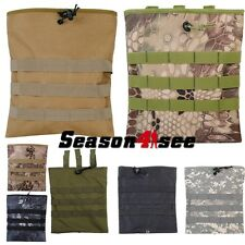 5 Color Molle Tactical Magazine Dump Drop Pouch Molle Belt For Paintball Hunting