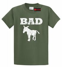 Bad @ss Donkey Funny T Shirt Distressed Donkey Animal Rude Party Tee Shirt