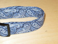 Blue Paisley Adjustable Dog Collars & Martingales & Leashes & Cat Collars
