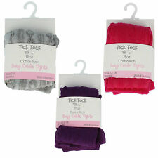 Baby Girls Tick Tock Cable Tights 45B117