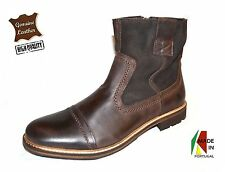 Classic Men's Brown Boots in Genuine Leather made in Portugal