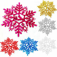 3Pcs New Glitter Snowflake Christmas Ornaments Home Xmas Tree Hanging Decoration