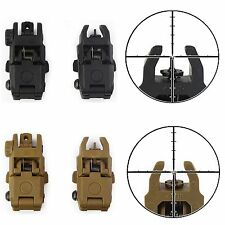 Tactical Folding Flip Up Front & Rear Set Backup Sight Rapid Transition BUIS