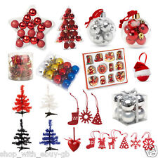 Christmas Tree Decorations Xmas Hangers Santa Baubles Stocking Fillers Gift Lot