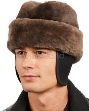 Light Brown Sheared Beaver Russian Cossack Hat -Brand: frr -Made in Canada