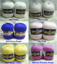 Wholesale Luxury Soft Cashmere Mink Knitting Yarn Skeins Lot Lace 30 colors