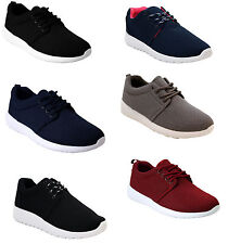 NEW MENS WOMENS SUPERLIGHT LACE UP GYM RUNNING LADIES MESH TRAINERS SHOES UK3-11