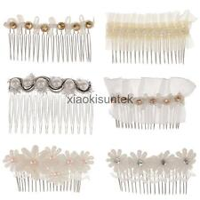 Women Wedding Lace Flower Beauty Crystal Hair Comb Clip Fashion Hair Accessories