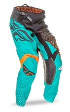 FLY Racing Kinetic Trifecta 2016 Youth MX/Offroad Pants Black/Teal/Orange