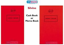 SILVINE CASH BOOK / MEMO BOOK IDEAL FOR OFFICE ACCOUNTS/SMALL BUSINESS/PETTY CAS