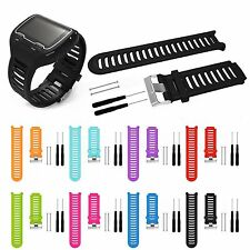 Silicone Accessory Watch Band Wrist Strap + Tool Kit For Garmin Forerunner 910XT
