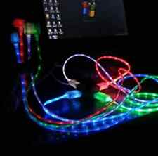 2x Visible LED  Light Micro USB Charging Data Sync Cable for Android iPhone new